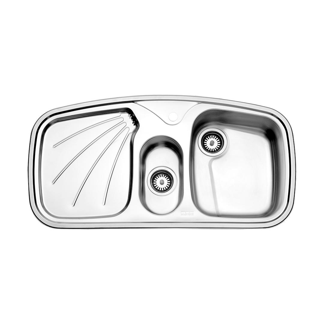 سینک توکار مدل ۶۱۰ استیل البرز