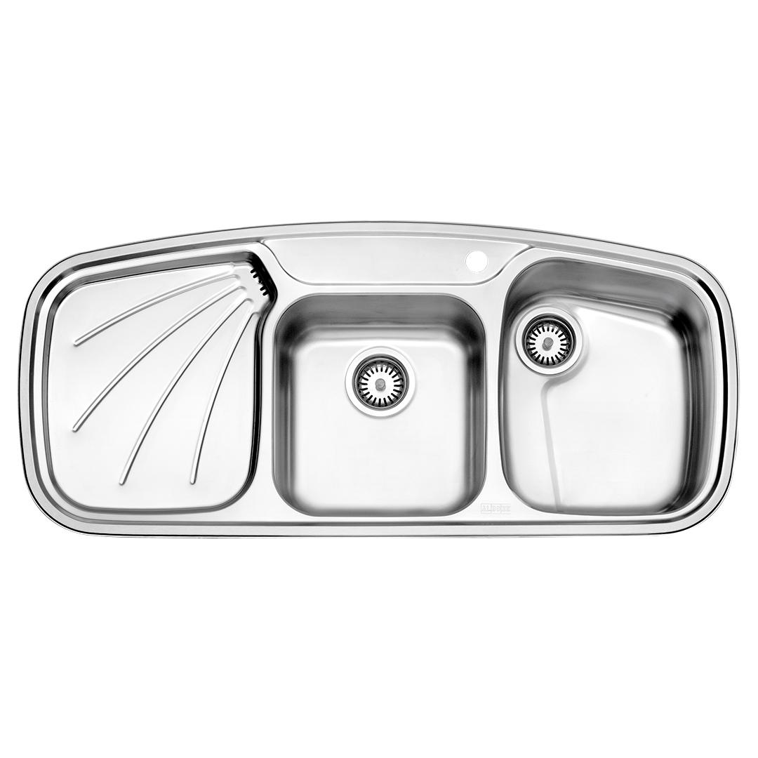 سینک توکار مدل ۶۱۴ استیل البرز
