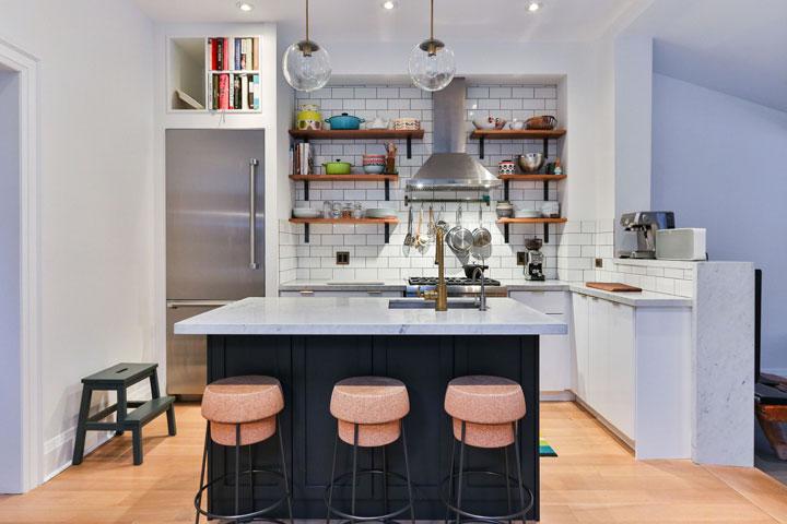 طراحی آشپزخانه با تمرکز بر نقاط کانونی