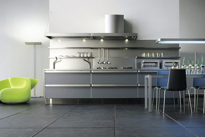 آشپزخانه استیل؛ ایدهای فوقالعاده برای طراحی آشپزخانه کوچک