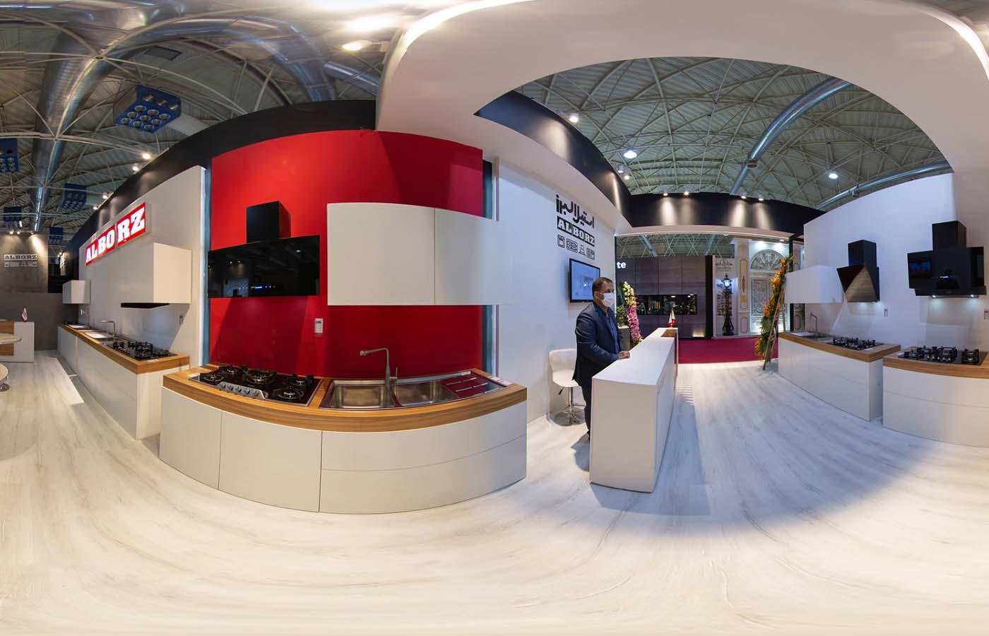 بیست و یکمین نمایشگاه صنعت ساختمان غرفه استیل البرز