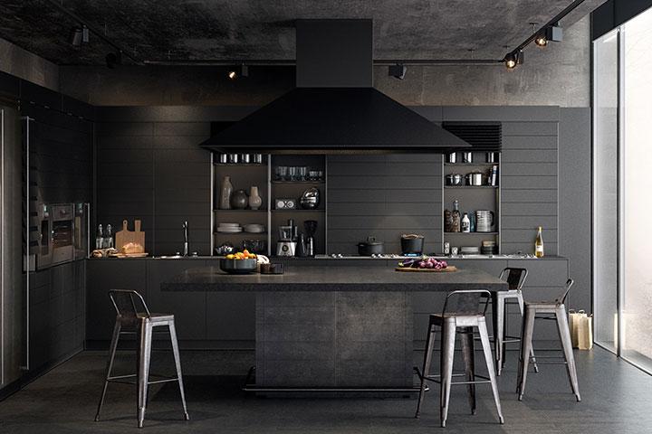 آشپزخانۀ مشکی؛ همان چیزی که فکرش را میکنید